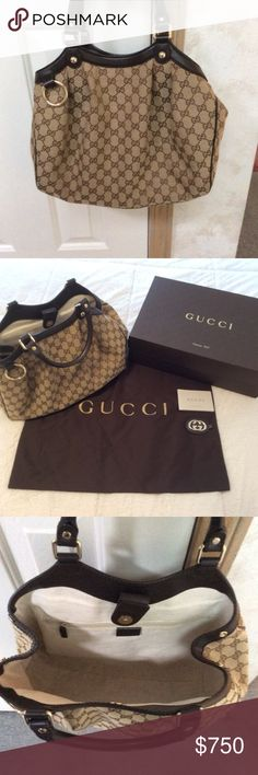 BRAND NEW, NEVER USED Gucci Sukey Bag Beautiful, brand new and authentic. Still smells of leather and is in perfect condition. Box, dust bags and detachable keychain included. Gucci Bags Hobos