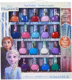 Disney Frozen 2 Girls Deluxe Nail Polish Gift Set Non-toxic Many Colors 18 Piece Little Girl Toys, Toys For Girls, Kids Toys, Kids Dress Wear, Girls Dress Up, Brinquedos Fisher Price, Disney Frozen Nails, Barbie Makeup, Baby Doll Makeup