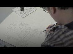 Kijken, praten, tekenen, zo maakt Jan Rothuizen zijn kunstwerken - de Volkskrant - YouTube