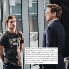 Amazing Spiderman actor Tom Holland shares his thoughts on Robert Downey Jr.<<<< his shirt! Spiderman Actor, All Spiderman, Amazing Spiderman, Dc Memes, Marvel Memes, Marvel Dc Comics, Marvel Avengers, Avengers Movies, Actor Tom Holland