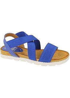 Kidderminster Blue Elasticated Sandals