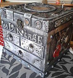 Altetered Steampunk jewellery box by Stewart at www.Stewdio61.com