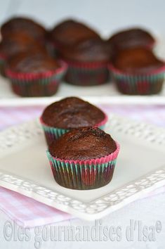 MUFFINS AUX DATTES ET CHOCOLAT Breakfast Muffins, Coco, Panna Cotta, Biscuits, Sweets, Recipes, Html, Camping, Image