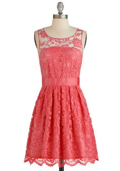 When the Night Comes Dress in Coral, @ModCloth