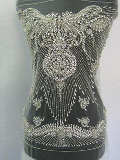 Aplikace na předek šatů - Krajky a aplikace na šaty - Svatební výzdoba