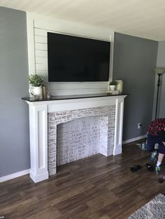 Beautiful diy faux fireplace