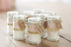 Handwritten tags for favor jars