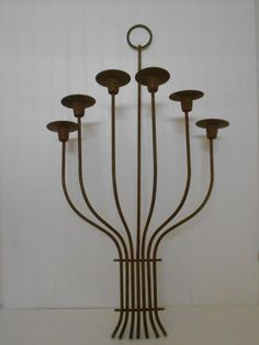 Large Vintage Modern Candle Wall Sconce. $25.00, via Etsy.
