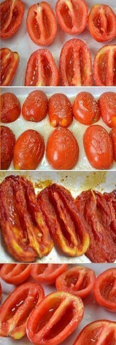 Cómo Hacer TOMATES SECOS caseros. #tomatoes #tomatosoup #tomate #tomates #tomateseco #comohacer #rellenos #ensaladas #salud #saludable #salad #receta #recipe #tasty #food Si te gusta dinos HOLA y dale a Me Gusta MIREN… Veggie Recipes, Mexican Food Recipes, Italian Recipes, Vegetarian Recipes, Cooking Recipes, Healthy Recipes, Deli Food, Good Food, Yummy Food