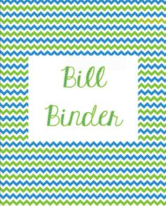 Bill Binder with excellent monthly budget sheet.  Free printable.