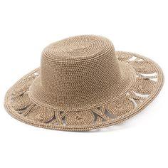 9497f3b41d025 Women s SONOMA Goods for Life™ Open Work Brim Floppy Hat featuring polyvore  women s fashion accessories hats dark beige floppy hat circle brim hat  straw hat ...
