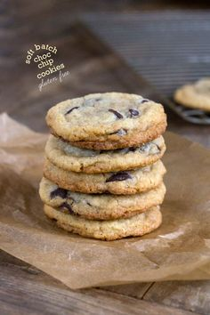 Gluten Free Soft Batch Chocolate Chip Cookies. I love love love the chewy cookes from the store, but its unsettling that they stay soft (just what does that!) this recipe is a GREAT alternative that tastes straight out of the oven.