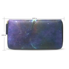 Space Nebula Galaxy Womens RFID Blocking Zip Around Wallet Genuine Leather Clutch Long Card Holder Organizer Wallets Large Travel Purse