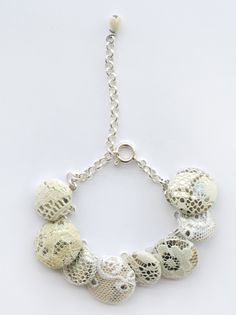miauski lacey button jewelry - love how different this looks!