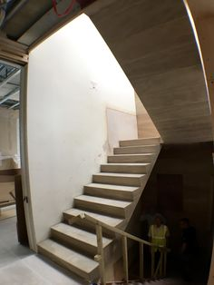 a rare self supported solid stone staircase in London.