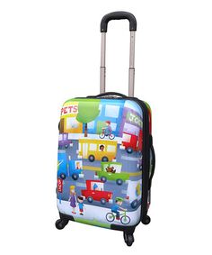 Take a look at this Vehicles Expandable Wheeled Carry-On by Travelers Club Luggage on #zulily today!
