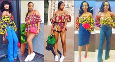 Nigerian Wedding Popular Ankara Styles: Check Out These 35 Stylish Ways To Rock The Off Shoulder Ankara Exaggerated Balloon Sleeves Tops