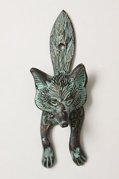This makes no sense in an apartment really, but I love it. Reminds me of the wolf knocker on the front door I grew up with. Sly Fox Knocker #anthropologie