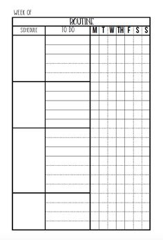 Routines & Daily Planners - Free Editable Printables