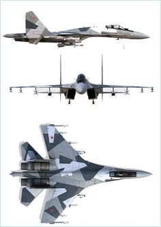 Sukhoi Сухой multifunctional multirole fighter aircraft technical data sheet specifications intelligence description information identification pictures photos images video Russia Russian Air Force aviation air defence industry Images Gif, Photo Images, Air Force Aircraft, Fighter Aircraft, Military Jets, Military Weapons, Air Fighter, Fighter Jets, Illustration Avion