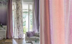 European Trend, two different curtains.