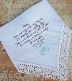 weddings wedding accessories bridal handkerchief father bride linen free embroidery