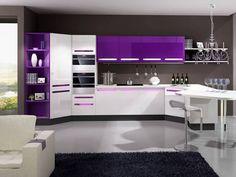 Construindo Minha Casa Clean: 13 Cozinhas Roxas Decoradas e Modernas! #cozinha #Roxo