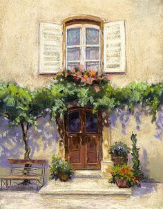 Avignon doorway. Soft pastel. Pastel Drawing, Doorway, Paintings, Watercolor, Drawings, Art, Entrance, Pen And Wash, Art Background