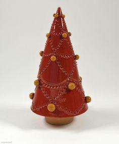 """""""ABETE ROSSO"""" - Porta cioccolatini ispirato al peccio, o abete rosso, che è il classico intramontabile albero di Natale."""