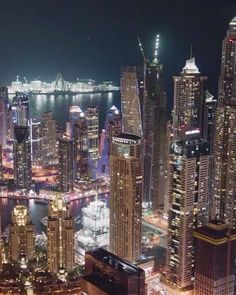 "892 Likes, 35 Comments - Amazing Dubai (@amazingdubai_) on Instagram: ""The City of Lights at Night.  Video Credit : @goaerials"""