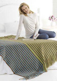 Ravelry: Warming Stripes Throw pattern by Glenda Winkleman