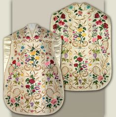 Hand-embroidered vestments