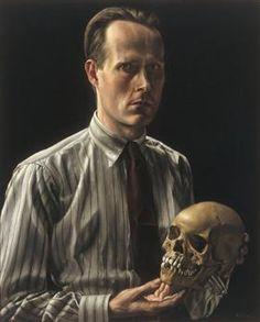 Zelfportret met schedel - Carel Willink
