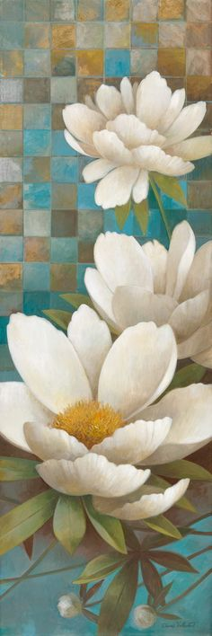 Lily Reflection II by Elaine Vollherbst-Lane 12x36 in. Art Print