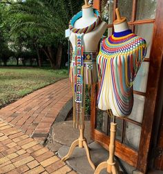African Bridal Dress, African Wear Dresses, African Attire, African Beads Necklace, African Jewelry, Zulu Wedding, Xhosa Attire, Beads Clothes, African Traditional Wedding Dress
