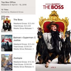 The Boss is the #1 movie in America !!! The Boss