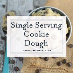 Single Serving Edible Cookie Dough Single Serving Chocolate Chip Cookie Dough is an eggless cookie dough recipe that makes just enough for one person. Great for a cozy night on the couch or after a long, stressful day. Edible Cookie Dough Recipe For One, Cookie Dough For One, Healthy Cookie Dough, Edible Cookies, Cookie Dough Recipes, Baking Recipes, Köstliche Desserts, Delicious Desserts, Dessert Recipes
