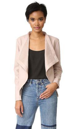 BB Dakota Peppin Vegan Leather Drapey Jacket. Urban outfitters in black. Size large