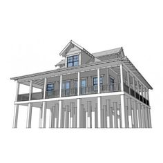 AmazingPlans.com House Plan #dt0034   Sanibel   Beach   Pilings, Southern,
