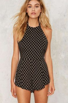 Layer Low Halter Romper | Shop Clothes at Nasty Gal!