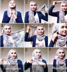 How to wear hijab tutorials headscarves 17 Ideas Hijab Outfit, Hijab Dress, Turban Hijab, Square Hijab Tutorial, Hijab Style Tutorial, Turban Tutorial, Islamic Fashion, Muslim Fashion, Hijab Mode Inspiration