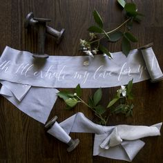 TUTORIAL: LETTERING ON SILK RIBBON by Leaf & Linen | Silk and Willow