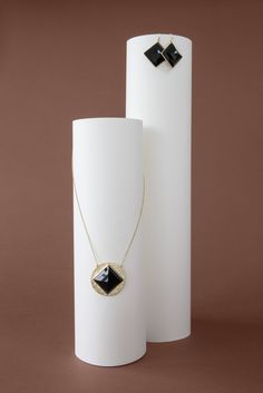 Go big with these Dakota Onyx Square Drop Earrings.