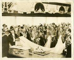 1938 Vintage Press Photo of King ZOG His Bride at Royal Wedding Albania