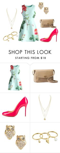 """""""Summer"""" by mginger ❤ liked on Polyvore featuring beauty, Chicwish, UGG Australia, Christian Louboutin, Kate Spade and Rebecca Minkoff"""