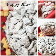 This Puppy Chow Chex Mix, also known as Muddy Buddies is a simple, almost fool proof treat anyone can whip up! Kid friendly and makes great gifts! Chez Mix Recipes, Christmas Cookies Kids, Christmas Baking, Christmas Snacks, Puppy Chow Mix, Kid Friendly Appetizers, Puppy Chow Recipes, Puppy Food, Chex Mix