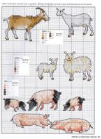 ru / Фото - Picture Your Pet in Cross Stitch - Goat's, sheep, and pig's. Cross Stitch Designs, Cross Stitch Patterns, Blackwork Patterns, Beaded Cross Stitch, Cross Stitch Embroidery, Cross Stitch Silhouette, Farm Quilt, Free Cross Stitch Charts, Cross Stitch Kitchen