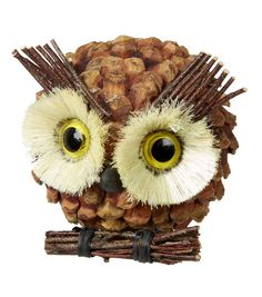 Autumn Inspirations Pinecone Owl Decor