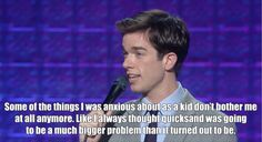 When he looked back on his childhood anxieties: 23 Jokes That Prove John Mulaney Can Make Literally Anyone Laugh Lol, Haha Funny, Funny Cute, Funny Memes, Hilarious, Jokes, Funny Stuff, Funny Gifs, Funny Shit