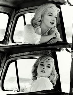 "We're not sure what vehicle Marilyn is riding here but it counts as a ""supercar"" because she's in it."